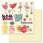 Carolee's Creations - AdornIt - Flamingo Fever Paper Collection - 12 x 12 Double Sided Die Cut Paper - Flamingo Fever