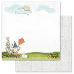 Carolee's Creations - AdornIt - Gnome Life Paper Collection - 12 x 12 Double Sided Paper - Kite Buddy