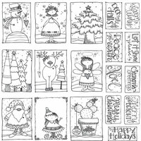 Carolee's Creations - AdornIt - Christmas - Art Play Paintables - 12 x 12 Paper - Seasons Greetings