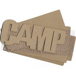 Carolee's Creations Adornit - Chipboard Album - Camp - with Rocky Textured Acrylic Skin, CLEARANCE