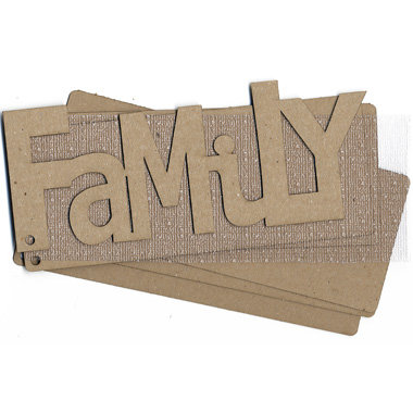 Carolee's Creations Adornit - Chipboard Album - Family - with Woven Textured Acrylic Skin, CLEARANCE