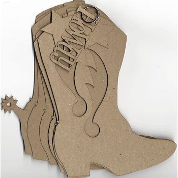 Carolee's Creations Adornit - Chipboard Album - Cowboy Boot