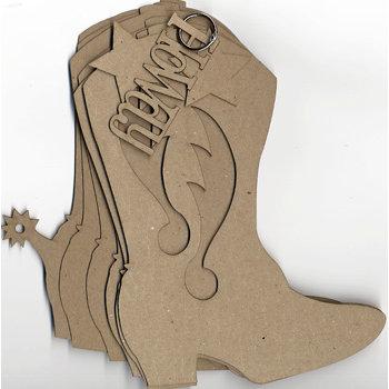 Carolee's Creations Adornit - Chipboard Album - Cowboy Boot