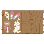 Carolee's Creations - Adornit - Baby Girl Collection - Wood Storybook - Baby Girl