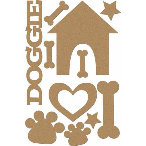 Carolee's Creations - Adornit - Doggie Life Collection - Wood Shapes - Dog