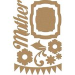 Carolee's Creations - Adornit - Charmed Collection - Wood Shapes - Mother