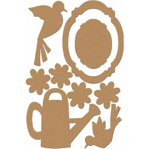 Carolee's Creations - Adornit - Garden Fun Collection - Wood Shapes - Garden