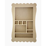 Carolee's Creations - Adornit - Wood Shop Project - Shaped Shadow Box - Long Scallop