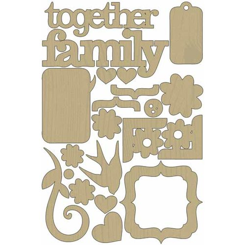 Carolee's Creations - Adornit - Forever Family Collection - Wood Shapes - Family