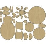 Carolee's Creations - Adornit - Snow Days Collection - Wood Shapes - Stackable Snowman