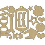 Carolee's Creations - Adornit - Hound Dog Collection - Wood Shapes - Dog