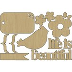 Carolee's Creations - Adornit - Crazy for Daisy Collection - Wood Shapes - Daisy