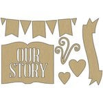 Carolee's Creations - Adornit - Storybook Collection - Wood Shapes - Storybook