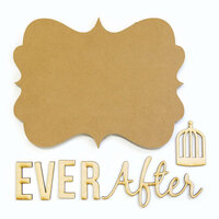 Carolee's Creations - Adornit - Bare Wood Sets - Word Plaque - Ever After