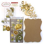 Carolee's Creations - Adornit - Art Play Kit - Wood Word Plaque - You and Me