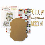 Carolee's Creations - Adornit - Art Play Kit - Wood Word Plaque - Follow Your Arrow