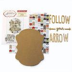 Carolee's Creations - Adornit - Art Play Kit - Wood Word Plaque - Follow Your Arrow