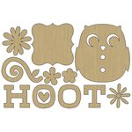 Carolee's Creations - Adornit - Nested Owl Mint Collection - Wood Shapes - Hoot