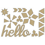 Carolee's Creations - Adornit - Kaleidoscope Collection - Wood Shapes - Hello