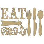Carolee's Creations - Adornit - Farmhouse Collection - Wood Shapes - Eat