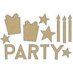 Carolee's Creations - Adornit - Celebrate Collection - Wood Shapes - Party