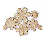 Carolee's Creations - Adornit - Documented Faith Collection - Wood Shapes - Etched Flowers