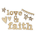 Carolee's Creations - Adornit - Documented Faith Collection - Wood Shapes - Faith