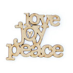 Carolee's Creations - Adornit - Documented Faith Collection - Wood Shapes - Love Joy Peace