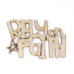 Carolee's Creations - Adornit - Documented Faith Collection - Wood Shapes - Rely on Faith