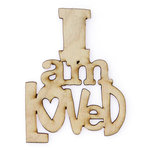 Carolee's Creations - Adornit - Documented Faith Collection - Wood Shapes - I am Loved