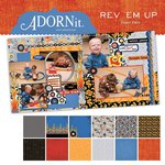 Carolee's Creations - Adornit - Rev 'Em Up Collection - 12 x 12 Paper Pack