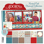 Carolee's Creations - Adornit - Nested Owls Charcoal Collection - 12 x 12 Paper Pack