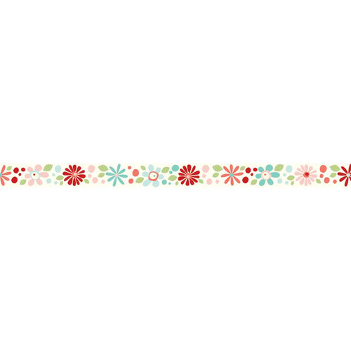 Carolee's Creations - Adornit - Nested Owls Coral Collection - Ribbon - Crazy Daisy - Coral