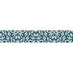 Carolee's Creations - Adornit - Nested Owls Charcoal Collection - Ribbon - Damask - Blue