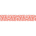 Carolee's Creations - Adornit - Nested Owls Coral Collection - Ribbon - Damask - Coral