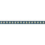 Carolee's Creations - Adornit - Wild Flower Collection - Ribbon - Daisy Row - Navy