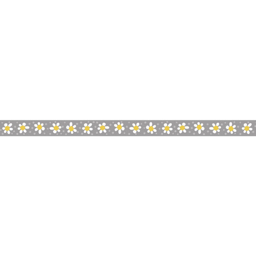 Carolee's Creations - Adornit - Wild Flower Collection - Ribbon - Daisy Row - Gray