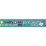 Carolee's Creations - Adornit - Wild Flower Collection - Ribbon - Daisy Smiles - Word