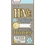 Carolee's Creations - Adornit - Bumble Collection - Die Cut Cardstock Shapes - Hive