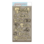 Carolee's Creations - Adornit - Family Path Collection - Die Cut Cardstock Shapes - Family Script