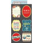 Carolee's Creations - Adornit - Nested Owl Mint Collection - Die Cut Cardstock Shapes - Perfect Day