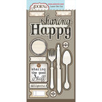 Carolee's Creations - Adornit - Farmhouse Collection - Die Cut Cardstock Shapes - Sharing Happy