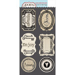 Carolee's Creations - Adornit - Farmhouse Collection - Die Cut Cardstock Shapes - Enjoy