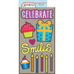 Carolee's Creations - Adornit - Celebrate Collection - Die Cut Cardstock Shapes - Celebrate