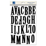 Carolee's Creations - Adornit - Foam Dimensional Stickers - Alphabet - Black, CLEARANCE