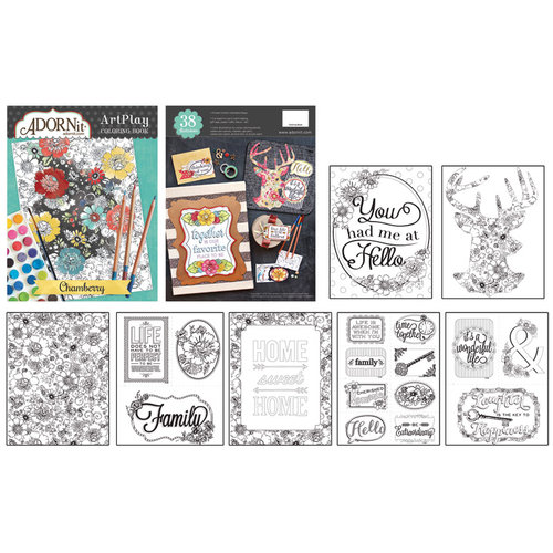 Carolee's Creations - AdornIt - Art Play Coloring Book - Chamberry