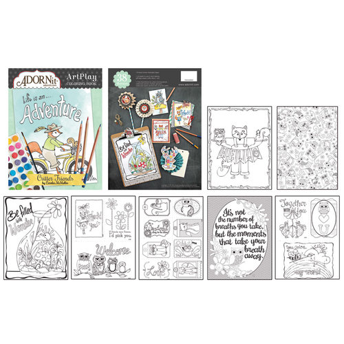 Carolee's Creations - AdornIt - Art Play Coloring Book - Critter Friends