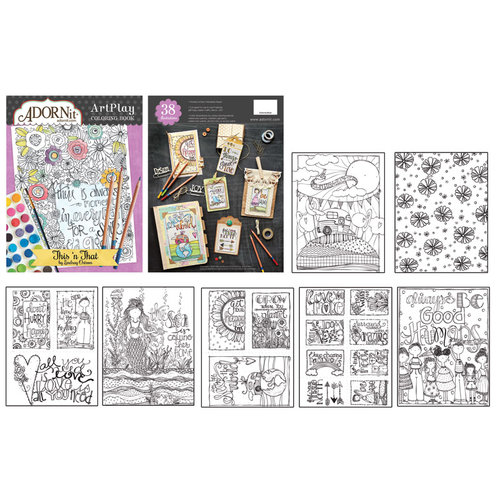 Carolee's Creations - AdornIt - Art Play Coloring Book - This N' That
