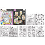 Carolee's Creations - Adornit - Art Play Coloring Book - This 'N That