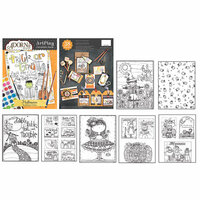 Carolee's Creations - AdornIt - Art Play Coloring Book - Halloween